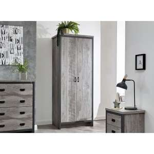 Boston Wooden 3Pc Bedroom Furniture Set In Grey