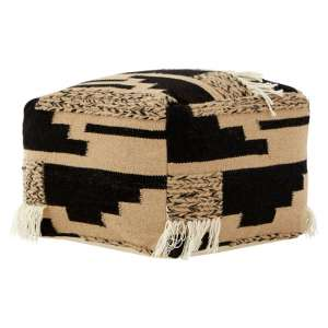 Botin Fabric Upholstred Trenza Pouffe In Multi-Colour