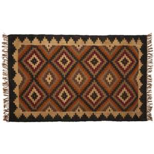 Botin Large Fabric Upholstred Aztec Rug In Multi-Colour