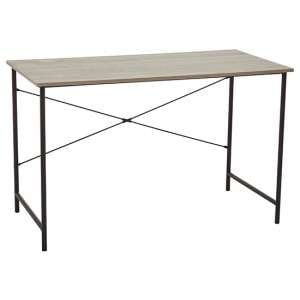 Bradken Wooden Computer Desk In Grey Oak