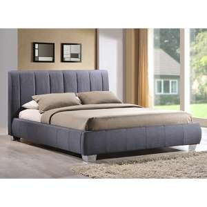 Braunston Fabric Upholstered King Size Bed In Grey