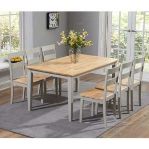 Bremen Oak And Grey Dining Set With 4 Dining Chairs