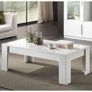 Breta Coffee Table Rectangular In White High Gloss