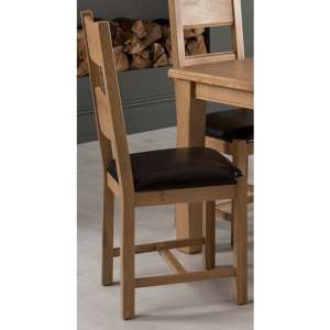Brex Brown Leather Seat Dining Chair In Natural