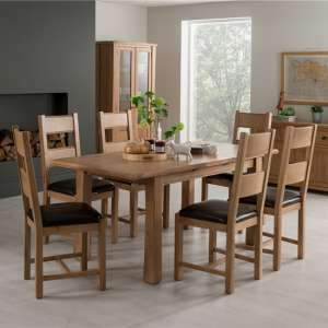 Brex Extending Medium Natural Dining Table With 6 Chairs