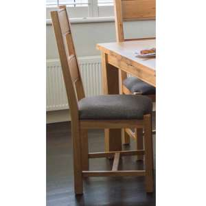 Brex Grey Fabric Seat Dining Chair In Natural