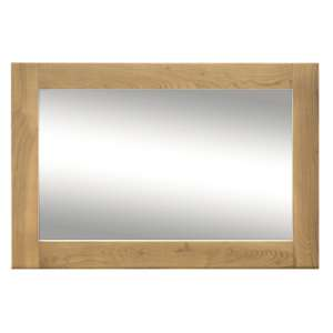 Brex Wall Mirror In Natural Wooden Frame