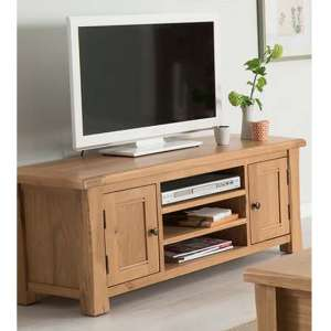 Brex Wooden 2 Doors TV Stand In Natural