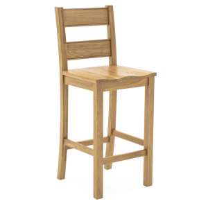 Brex Wooden Bar Stool In Natural