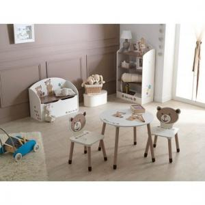 Britta Round Table In Chocolate And Beige With 2 Chairs_6