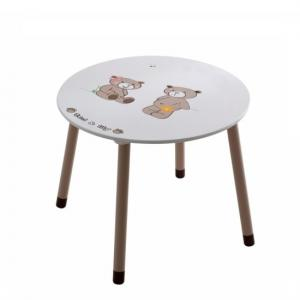 Britta Round Table In Chocolate And Beige With 2 Chairs_2