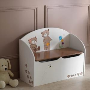Britta Toy Box Cum Blanket Box In Chocolate And Beige