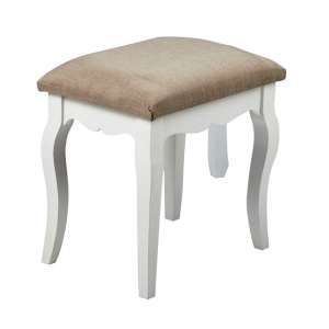 Harerra Wooden Dressing Stool In Grey
