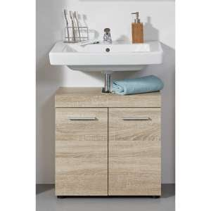 Britton Bathroom Sink Vanity Unit In Sagerau Light Oak