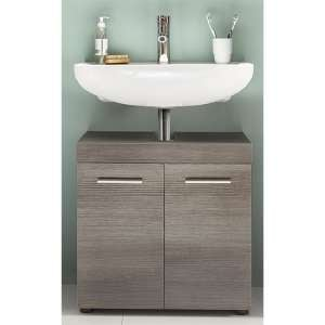 Britton Bathroom Sink Vanity Unit In Sardegna Smoky Silver
