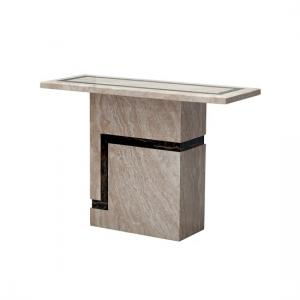 Brooke Contemporary Rectangular Marble Console Table