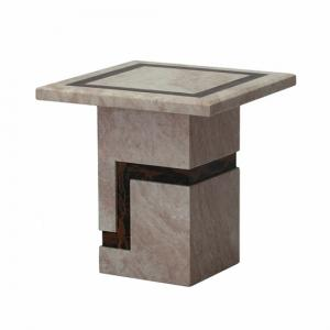 Brooke Contemporary Square Marble End Table