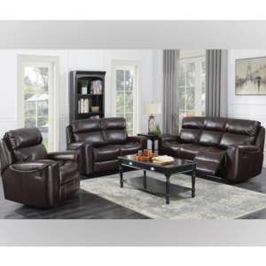 Brookland 3 Seater Sofa And 2 Armchairs Suite In Chestnut