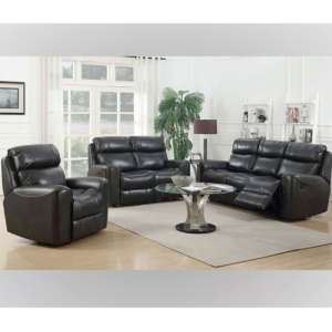Brookland 3 Seater Sofa And 2 Armchairs Suite In Two Tone Grey