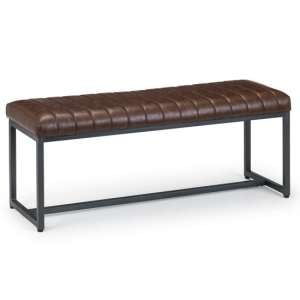 Brooklyn Faux Leather Upholstered Bench In Brown