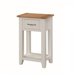 Brooklyn Wooden Telephone Table In Stone Painted With 1 Drawer
