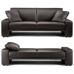 Supra Sofa bed In Brown Faux Leather