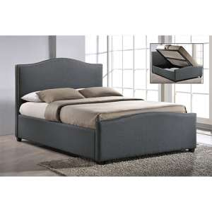Brunswick Fabric Storage Ottoman King Size Bed In Grey