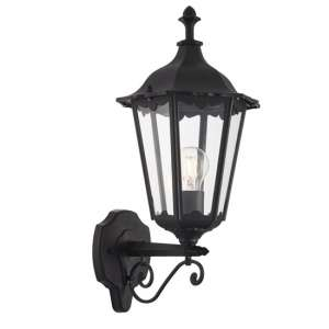 Burford Wall Light In Black With Large Mount Plate
