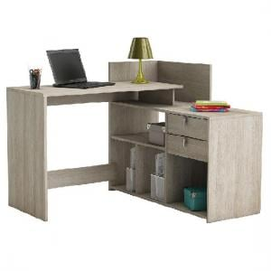Bylan Corner Computer Desk In Shannon Oak With Storage