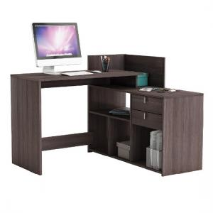Bylan Corner Computer Desk In Vulcano Oak With Storage