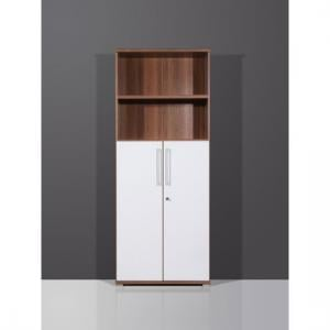 Vision Lockable Combi Cabinet In Walnut White
