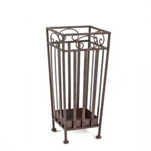 Cairo Umbrella Stand In Antique Brown Metal