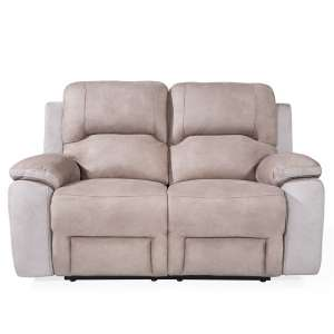 Calais Fabric Recliner 2 Seater Sofa In Grey