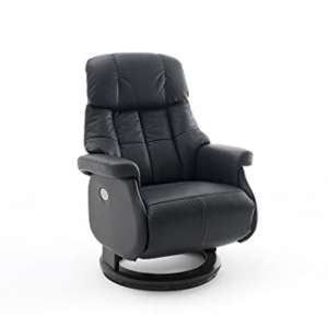 Calgary Leather Electric Relaxer Chair In Black