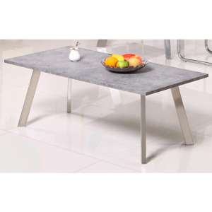 Calipso Concrete Effect Coffee Table With Brushed Steel Legs