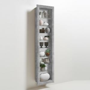 Bora9 Wall Mounted Display Stand In Light Atelier 8 Glass Shelf