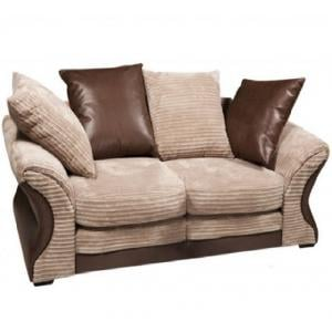 Camden Fabric Sofa Suite 3 And 2 Seater Beige And Brown