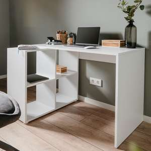 Cameton Wooden Home Office Computer Desk In White