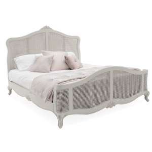 Camille Wooden King Size Bed In Antique Grey