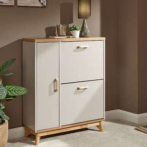 Camlian Wooden Shoe Storage Cabinet In Grey
