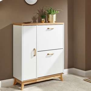 Camlian Wooden Shoe Storage Cabinet In White