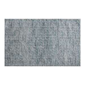 Camphills Large Fabric Upholstered Rug In Duck Egg