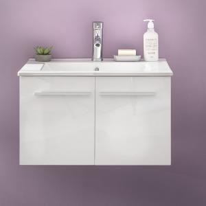 Campus Vanity Cabinet In High Gloss Fronts With Washbasin