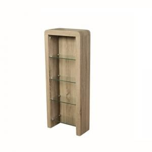 Cannock Wooden CD DVD Storage Unit In Havana Oak
