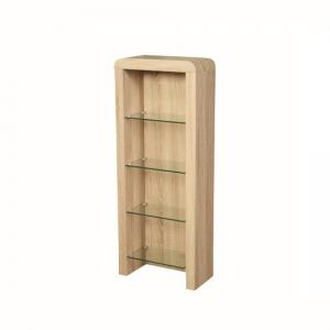 Cannock Wooden CD DVD Storage Unit In Sonoma Oak
