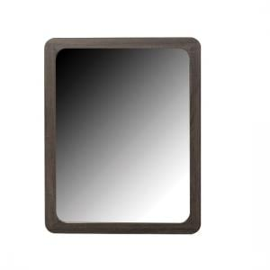 Cannock Wooden Wall Mirror Rectangular In Charcoal