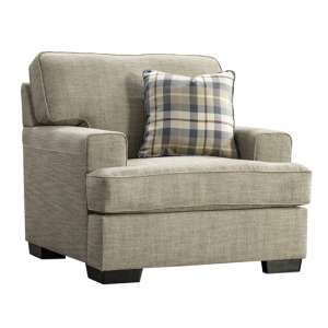 Canterbury Fabric 1 Seater Sofa In Beige With Scatter Cushions