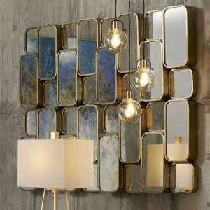 Canute Contemporary Wall Mirror In Antique gold