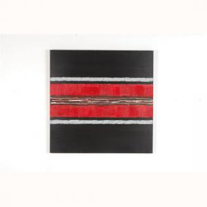 Canvas Painting In Mixture of Red And Black