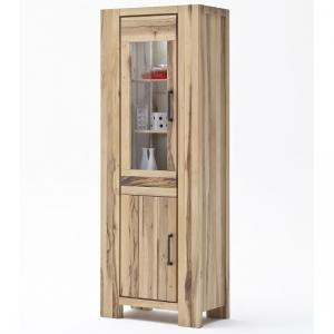 Sussex Display Cabinet Solid Wild Oak Right Side With Led Light